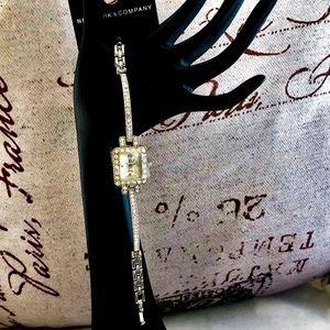 NY&Co Ladies Dress Bracelet Watch with Rhinestones